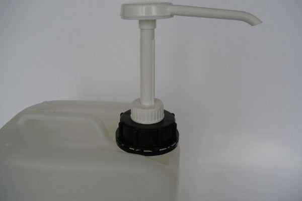 Vloeistofpompje voor glijmiddelvat